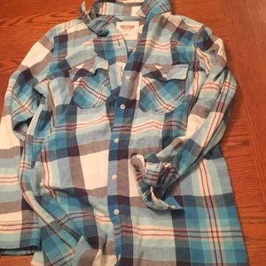 Pink, Blue, and White flannel